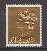 GB 2017 Gold Foil Machin Anniv~ £1 Definitive~ex Booklet~Unmounted Mint~Stamp~UK