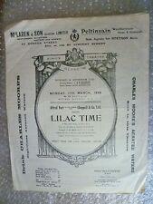 1924 Theatre Programme LILAC TIME- Eve Lynn,George Baker,F Blamey,Mina Greene