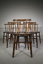 19th Century Antique Penny Windsor Dining Chairs x 34
