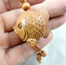 33*31MM Hand-carved Sword of fish  Wooden Crafts, Key Chain, Key Ring R4