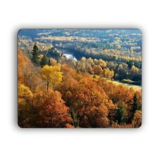 Fall Autumn Forest Hills Photo Computer Mouse Pad for Home and Office