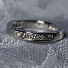 in14K White Gold, Custom Designed Princess Cut Diamond Wedding Band set