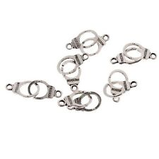 30pcs Handcuffs Freedom Word Bead Tibetan Silver Charms Pendant Bracelet 22*10mm