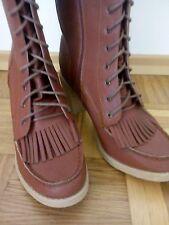 Damen MädchenBoots Stiefel mit Fransen Gr. 40 Neuw. Must Have Blogger Frühling