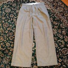 George Dress Slacks Cuffs Boys 16 Grey Brown small Pattern