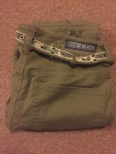 Mens Black Premium Rue21 Slim Low Rise Jeans Green Sz 28x30