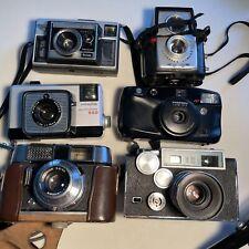 Lot of 6 Vintage 35mm Point & Shoot Film Cameras Voigtlander Argus Minolta