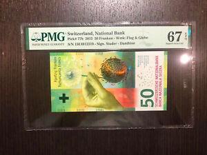 Switzerland National Bank Pick 77b 2015 50 Franken PMG 67 EPQ (1)