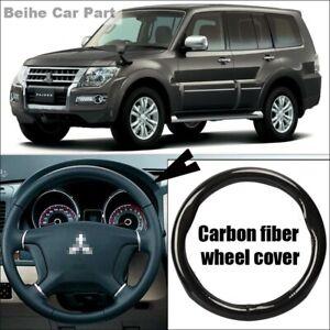 Non-slip Black Carbon Fiber Car Steering Wheel Cover For Mitsubishi Pajero ASX
