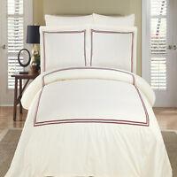Hotel Luxury Cotton Patterned Duvet Cover Sets 3 PC MAYA Duvet + 2 Pillow Shams
