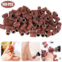 100/200/300Pcs Nail Art Sanding Bands Set Nails Drill Machine Manicure Pedicure