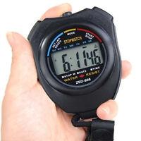 Digitale LCD Stoppuhr Multifunktion Taschenuhr Uhr Stopp Zeitmesser Uhr S Y S2D2
