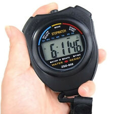 Digitale LCD Stoppuhr Multifunktion Taschenuhr Stopp Zeitmesser Uhr Sport