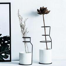 Ceramic Iron Flower Vase Table Plant Pot Minimalism Home Living Room Top Decor