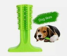 New listing Dog Toothbrush, Green color, Dog toy, All natural dental chew New (2787-0136)