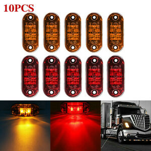 10x Amber LED  Side Marker Lights Truck Trailer Clearance Light Parking light