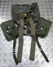 Authentique Vintage Army Sangle Ensemble / Battle Pack Ceinture Et Poches Lourd