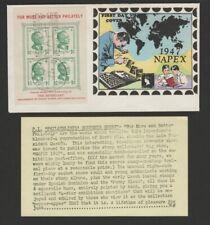 Philippines 1947 philately souvenir sheet FDC- Overseas Mailer w original insert