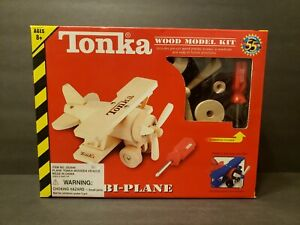 2002 Factory sealed Tonka Wood Model Kit Bi-Plane