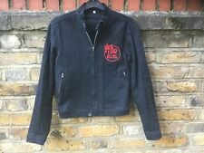 HYSTERIC GLAMOUR RARE BLACK BOMBER JACKET WITH 'yes I do but not with you' logo