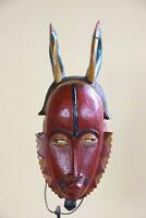 AZ9 Guro Baule Maske alt Afrika / Masque Gouro ancien / Old tribal mask Africa