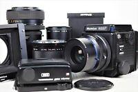 {NMint} MAMIYA RZ67 Pro Sekor Z 90mm 180mm 100-200mm 3Lens 2Film Back From Japan