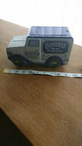 Collectable Vintage Tin Storage Empty Cadburys Mini Fingers Tin Lorry