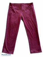 Athleta Quest Chatarunga Capris Medium heathered Plum,Yoga Tights Pants,EveryDay