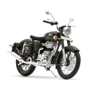 For Royal Enfield Classic 500 1:12 Scale Model Battle Green @AD
