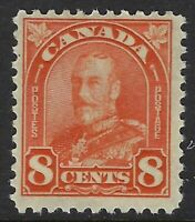 Scott 172: 8c red orange King George V Leaf & Arch, F-VF-HH