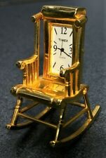 New ListingMiniature Timex Gold Tone Quartz Rocking Chair, Collectible. Used