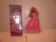 Barbie princess Doll with tiara pink dress