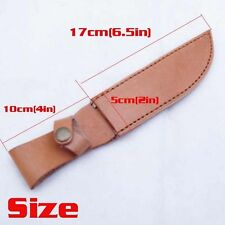 Top Leather Straight Sheath Scabbard Case For Fixed Knife blade Sports Camping