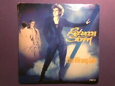 "Rebecca Storm - The Wrong Girl (7"" single) picture sleeve FIRE 12"