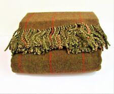 """Lauren Ralph Lauren Rock River Throw Blanket 76% Wool 60"""" x 60"""" Reversible $270"""