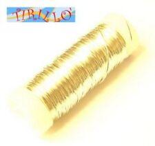 BIGIOTTERIA PERLINE - filo di rame mm 0,3 - col. oro