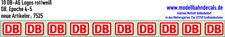 10 N Decals DB-AG Logo 2,7 mm breit, Weiss und Rot, Zeichen Keks 160-7525