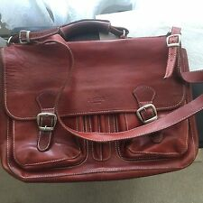 I Medici Cartella Scuola Italian Leather Briefcase, Messenger Bag Made in ITALY