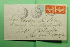 DR WHO 1907 FRANCE LA VOULTE SRHONE ARDECHE TO USA PAIR  f52976