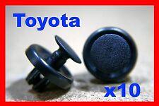 10 Toyota front bumper fender cover liner push fastener clips