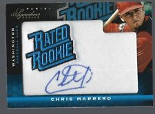 2012 Panini Signature Series #107 Chris Marrero Autograph RC 107/299