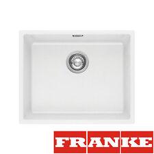 FRANKE Sid 110-50 White Tectonite 1 Bowl Sink Undermount Pop-Up Waste&Overflow