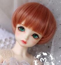 """New 1/8 BJD LATI-YELLOW Doll 5-6""""14cm Lolita Black Tea Brown Mushroom Short Wig"""