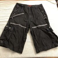 Vtg Tripp NYC shorts size Large aka 34 emo punk goth black with blue details