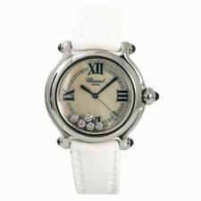Chopard Happy Sport 8347 Womens Quartz Watch Mother Of Pearl Dial Stainless 38mm