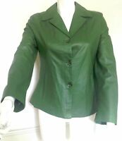 IMPERO Green designer Italian luxury soft leather ladies jacket, size 10