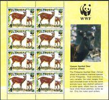 Philippines 1997 WWF/Deer/Animals/Nature/Wildlife/Conservation 8v sht (b7207)