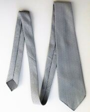 1970s vintage tie grey and white Terylene classic mens wear Excellent condition