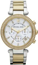 MICHAEL KORS PARKER CHRONOGRAPH WOMENS WATCH MK5626 WHITE DIAL RRP £259.00