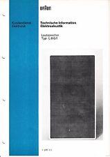 Service Manual-Anleitung für Braun  L 810